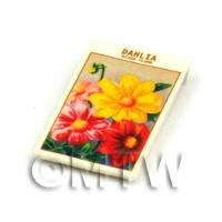 Dolls House Flower Seed Packet - Mixed Dahlia