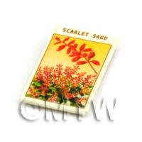 Dolls House Flower Seed Packet - Scarlett Sage