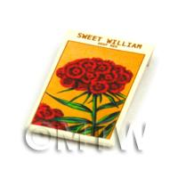 Dolls House Flower Seed Packet - Sweet William