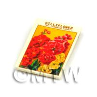 Dolls House Flower Seed Packet - Gilliflower