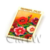 Dolls House Flower Seed Packet - Drummond Phlox