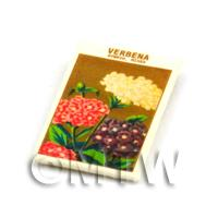 Dolls House Flower Seed Packet - Hybrid Verbena