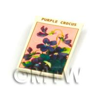 Dolls House Flower Seed Packet - Purple Crocus