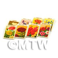 8 Mixed Dolls House Flower Seed Packets - Set 7