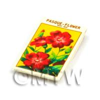 Dolls House Flower Seed Packet - Pasque Flower