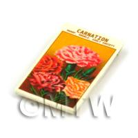 Dolls House Flower Seed Packet - Early Carnation