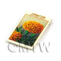 Dolls House Flower Seed Packet - Orange Carnation