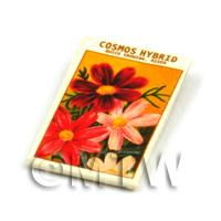 Dolls House Flower Seed Packet - Cosmos Hybrid