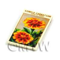 Dolls House Flower Seed Packet - Simple Carnation