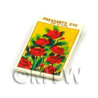 Dolls House Flower Seed Packet - Pheasants Eye