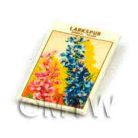 Dolls House Flower Seed Packet - Larkspur