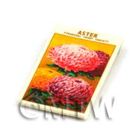Dolls House Flower Seed Packet - Peony Aster