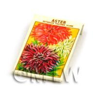 Dolls House Flower Seed Packet - Ostrich Aster