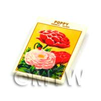 Dolls House Flower Seed Packet - Mixed Poppy