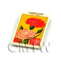 Dolls House Flower Seed Packet - Tall Carnation