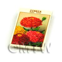 Dolls House Flower Seed Packet - Dwarf Zinnia