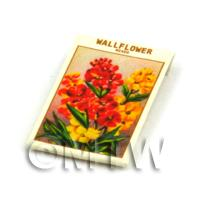 Dolls House Flower Seed Packet - Wallflower