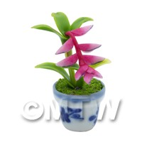 Dolls House Miniature Potted Pink Birds of Paradise