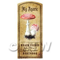 Dolls House Miniature Apothecary Fly Agaric Fungi Colour Label