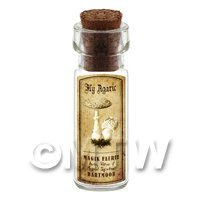 Dolls House Miniature Apothecary Fly Agaric Fungi Bottle And Label