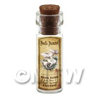 Dolls House Apothecary Fools Funnel Fungi Bottle And Colour Label