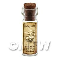 Dolls House Miniature Apothecary Fools Funnel Fungi Bottle And Label
