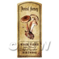 Dolls House Miniature Apothecary Forest Honey Fungi Colour Label