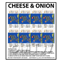 Dolls House Miniature Packaging Sheet of 8 French Fries
