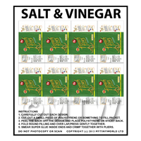 Packaging Sheet of 8  Salt and Vinegar French Fries