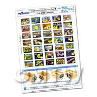 Dolls House Complete Set of 35 Lemon Crate Labels A4 Value Sheet