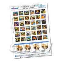 Dolls House Complete Set of 36 Orange Crate Labels A4 Value Sheet