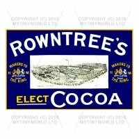 Dolls House Miniature Rowntrees Cocoa Shop Sign Circa 1910