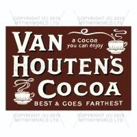 Dolls House Miniature Van Houtens Cocoa Shop Sign Circa 1910