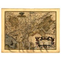 Dolls House Miniature Old Map Of Gelderland From The Late 1500s