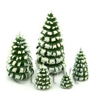 Dolls House Miniature Set of 5 Snowy Trees