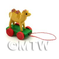 Dolls House Miniature Small Pull-Along Camel