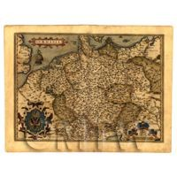 Dolls House Miniature Old Map Of Germany From The Late 1500s