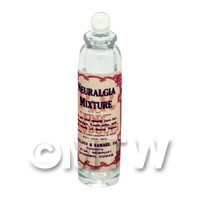 Miniature Neuralgia Mixture Clear Glass Apothecary Bottle
