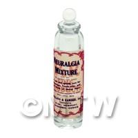 Miniature Neuralgia Mixture Clear Glass Apothecary Bottle