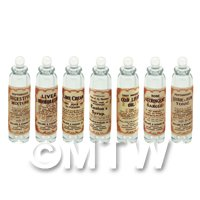 Set of 7 Clear Glass Apothecary Bottle (GS16) Set 1/2