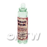 Miniature Neuralgia Mixture Green Glass Apothecary Bottle