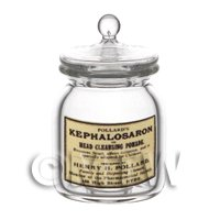 Dolls House Miniature - Dolls House Miniature Kephalosaron Glass Apothecary Storage Jar