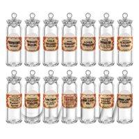 14 Miniature Glass Apothecary Storage Jars
