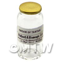 Miniature Cream of Tartar Glass Apothecary Bulk Jar