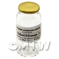 Miniature Cocaine Hyrochlorate Glass Apothecary Bulk Jar