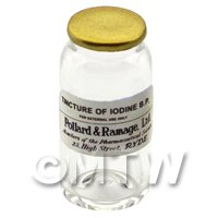 Miniature Tincture of Iodine B.P. Glass Apothecary Bulk Jar