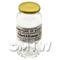 Miniature Tincture of Quinine Glass Apothecary Bulk Jar
