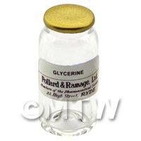 Miniature Glycerine Glass Apothecary Bulk Jar