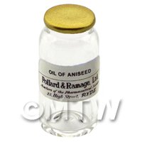 Miniature Oil of Aniseed Glass Apothecary Bulk Jar