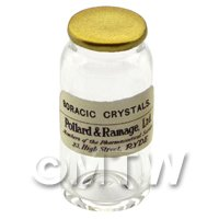 Miniature Boracic Crystals Glass Apothecary Bulk Jar